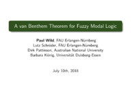 A van Benthem Theorem for Fuzzy Modal Logic