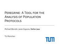 Peregrine: A Tool for the Analysis of Population Protocols