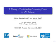 A Theory of Satisfiability-Preserving Proofs in SAT Solving