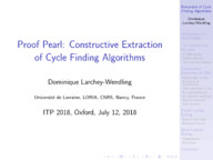 Proof Pearl: Constructive Extraction of Cycle Finding Algorithms