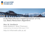 A Verified Efficient Implementation of the LLL Basis Reduction Algorithm