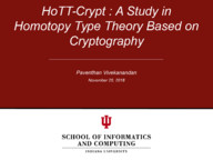 HoTT-Crypt : A Study in Homotopy Type Theory based on Cryptography