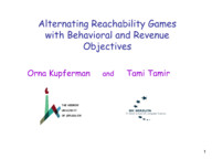 Alternating Reachability Games with Behavioral and Revenue Objectives