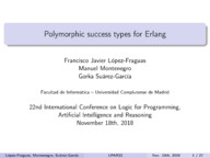 Polymorphic success types for Erlang