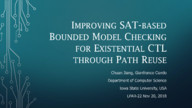 Improving SAT-based Bounded Model Checking for Existential CTL through Path Reuse