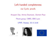 Completeness of Left Handed Kleene algebra via Cyclic Proofs