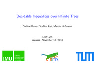 Decidable Inequalities over Infinite Trees