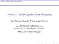 Wayeb: a Tool for Complex Event Forecasting
