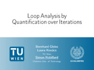 Loop Analysis by Quantification over Iterations