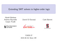 Extending  SMT solvers to Higher-Order Logic