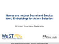Names are not just Sound and Smoke: Word Embeddings for Axiom Selection