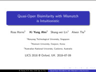 Quasi-Open Bisimilarity with Mismatch is Intuitionistic