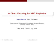 A Direct Encoding for NNC Polyhedra