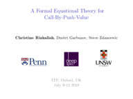 A Formal Equational Theory for Call-by-Push-Value