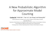 A New Probabilistic Algorithm for Approximate Model Counting