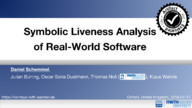 Symbolic Liveness Analysis of Real-World Software
