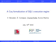 A Coq Formalisation of SQL'S Execution Engines