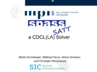 SPASS-SATT a CDCL(LA) Solver (System Description)