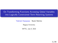 On Transforming Functions Accessing Global Variables into Logically Constrained Term Rewriting Systems