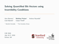 Solving Quantified Bit-Vectors using Invertibility Conditions