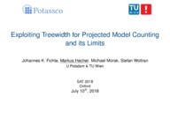 Exploiting Treewidth for Projected Model Counting and its Limits