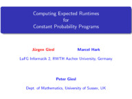 Computing Expected Runtimes for Constant Probability Programs