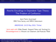Rewrite Encodings in Dependent Type Theories: The Problem of Confluence
