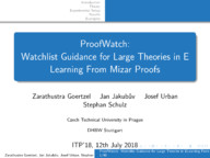 ProofWatch: Watchlist Guidance for Large Theories in E