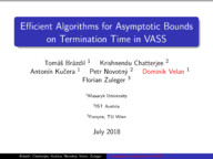 Efficient Algorithms for Asymptotic Bounds on Termination Time in VASS