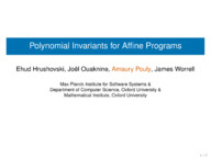 Polynomial Invariants for Affine Programs
