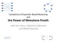 Complexity of expander-based reasoning and the power of monotone proofs