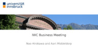 IWC Business Meeting