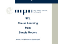 SCL -- Clause Learning from Simple Models