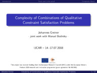 Complexity of Combinations of Qualitative Constraint Satisfaction Problems