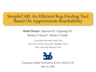 SimpleCAR: An Efficient Bug-Finding Tool Based On Approximate Reachability