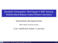 Symbolic Computation Techniques in SMT Solving: Mathematical Beauty meets Efficient Heuristics
