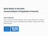 Black Ninjas in the Dark: Formal Analysis of Population Protocols