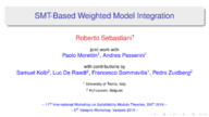 SMT-Based Weighted Model Integration (joint invited talk with the SMT Workshop)