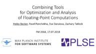 Combining Tools for Optimization and Analysis of Floating-Point Computations