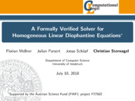 A Formally Verified Solver for Homogeneous Linear Diophantine Equations