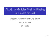 ALIAS: A Modular Tool for Finding Backdoors for SAT