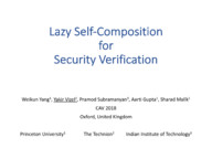Lazy Self-Composition for Security Verification