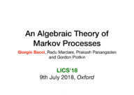 An algebraic theory of Markov processes