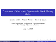Correctness of Concurrent Objects under Weak Memory Models
