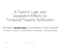 A Fixpoint Logic and Dependent Effects for Temporal Property Verification