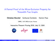 A Formal Proof of the Minor-Exclusion Property for Treewidth-Two Graphs