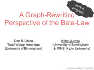 A graph-rewriting perspective of the beta-law