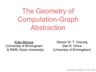 The Geometry of Computation-Graph Abstraction