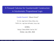 A Forward Calculus for Countermodel Construction in IPL