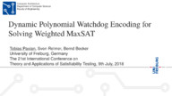 Dynamic Polynomial Watchdog Encoding for Solving Weighted MaxSAT